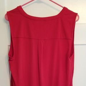 Dana Buchman Tops - Red Dress Sleeveless Tank Sz L Gold Buttons